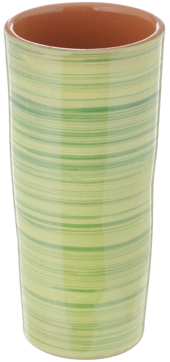Вазон-стакан Борисовская керамика Cтандарт, 400 млОБЧ00000667Вазон-стакан Борисовская керамика Cтандарт изготовлен из высококачественной глазурованной керамики. Внешние стенки декорированы принтом в полоску. Благодаря высоким стенками он может быть использован в качестве стакана или вазы. Дизайн изделия подчеркнет оригинальность интерьера и прекрасный вкус хозяина. Диаметр (по верхнему краю): 7,5 см. Диаметр дна: 6 см. Высота стакана: 15,5 см.