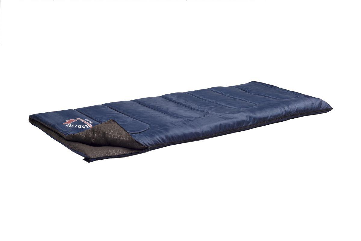 Спальный мешок Indiana Maverick, цвет: темно-синий, 205 x 90 см360700047Спальный мешок MAVERICK от -10С (одеяло 205x90 см ).Один из самых теплых спальных мешков - одеяло увеличенных размеров для кемпинга и туризма. В качестве подкладки используется POLYCOTTON, что увеличивает комфортность изделия и раздвигает температурные режимы спального мешка.
