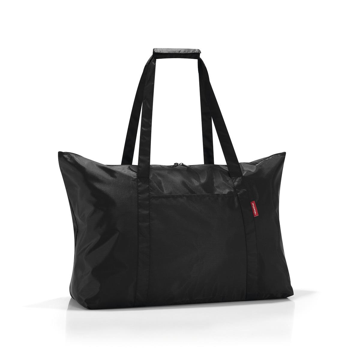 Сумка складная женская Reisenthel Mini maxi travelbag black, цвет: черный. AG7003AG7003Идеальный компаньон для путешествий, ведь из поездки мы всегда возвращаемся со множеством сувениров и покупок. Так что еще одна сумка пригодится. Она легко складывается в маленький чехол, которые можно взять с собой в сумке или рюкзаке. Так же можно использовать для похода за продуктами. Внутренний объем сумки - 30 литров. Есть внешний кармашек для мелочей. Для удобства ручки сумки можно соединить между собой.