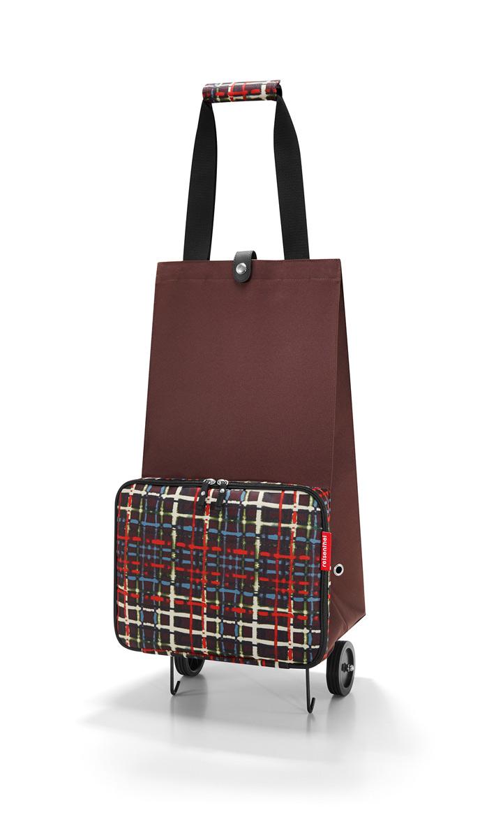 Сумка на колесиках Reisenthel Foldabletrolley wool, цвет: коричневый. HK7036HK7036Отличное решение для тех, кто не любит таскать тяжелые сумки и пакеты. С такой сумкой хоть в магазин, хоть на Северный полюс. Главный ее плюс в том, что она складывается до супер-компактного размера, так что ее легко хранить и брать с собой. Размер в сложенном виде: 6,5 х 25 х 32,5 см. Объем - 30 литров. Главное отделение застегивается на кнопку. Ручки удобно соединяются между собой с помощью липучки. Кромки днища специально укреплены и защищены, а само оно устойчиво, так что сумка не падает и не кренится.