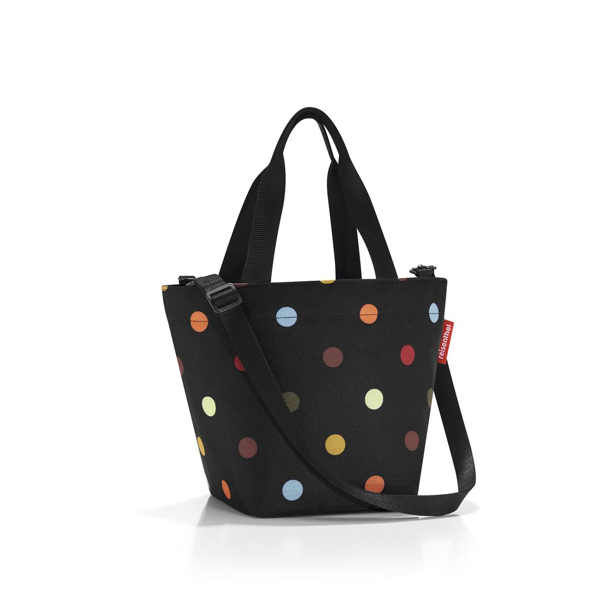 Сумка женская Reisenthel Shopper XS dots, цвет: черный. ZR7009ZR7009Симпатичная сумка для повседневного использования: широкие удобные лямки для переноски в руках и удобный плечевой ремешок с регулируемой длиной, который можно отстегнуть.Объем 4 литра позволяет вместить все необходимые мелочи. Застегивается на молнию. Внутри - кармашек на молнии.