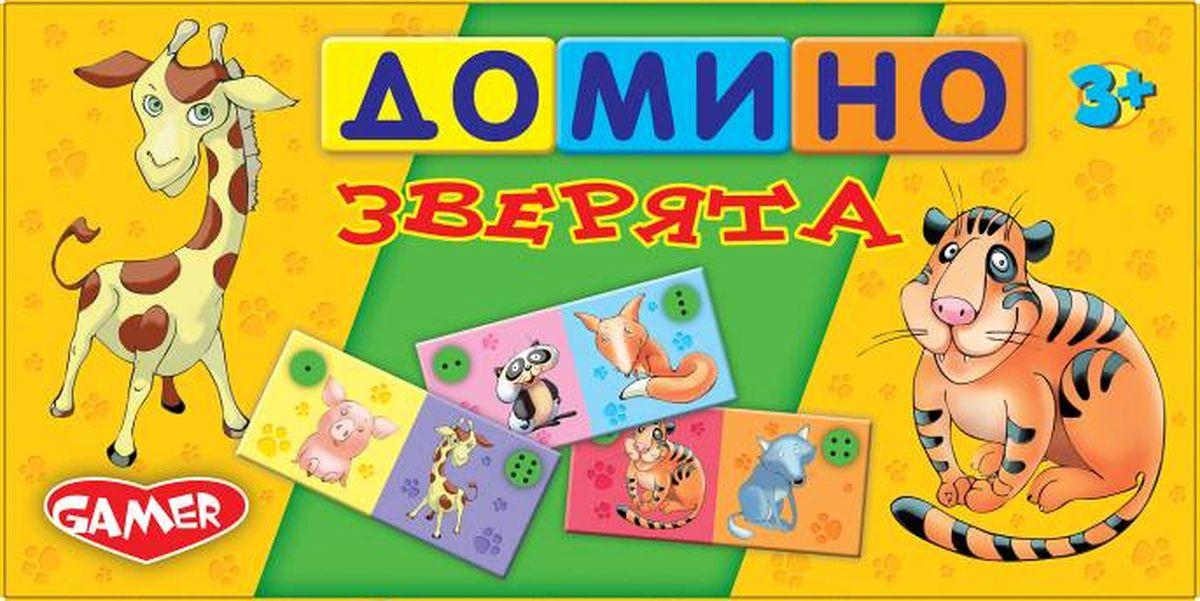 Dream Makers Обучающая игра Зверята9024Хорошо иллюстрированное домино с изображением зверей.