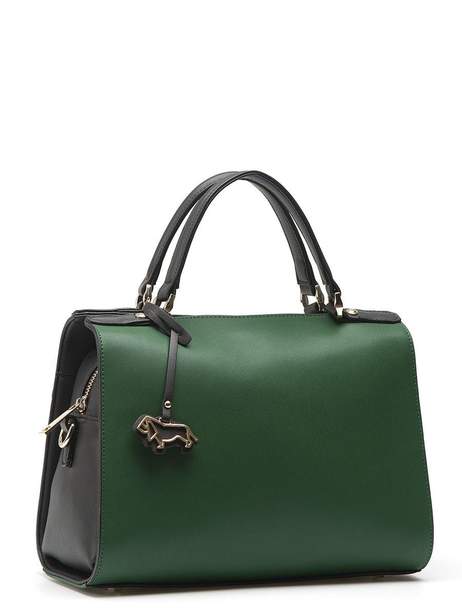 Сумка Labbra L-15445 green/blackL-15445Женская сумка торговой марки LABBRA из натуральной кожи. Сумка закрывается на металлическую молнию. Внутри - одно отделение, в котором есть карман на молнии, карман для мобильного телефона и открытый карман. Сумка имеет карман на задней стенке, а так же ножки на дне. Высота ручек - 11 см. Длина наплечного ремня - 100 см.