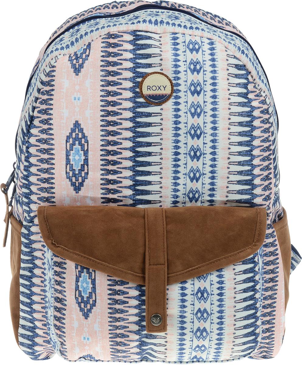 Рюкзак городской женский Roxy Carribean, цвет: синий, розовый, 18 л. ERJBP03269-WZA6ERJBP03269-WZA6