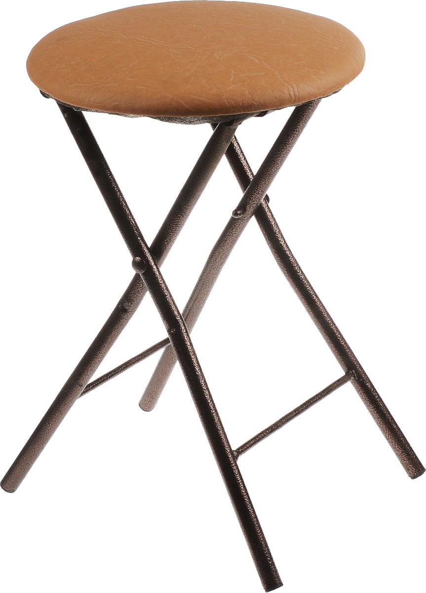 "Табурет раскладной ""Mayer & Boch"", цвет: бронзовый, бежевый, 31 х 31 х 46 см"