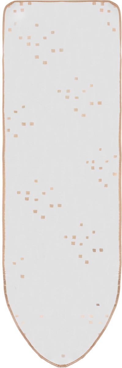 Чехол для гладильной доски Eva, цвет: серебристый, бежевый, 156 х 53 смЕ121_серебристый,бежевыйЧехол для гладильной доски Eva выполнен из хлопчатобумажной ткани с термостойким тефлоновым покрытием и поролоновой подкладкой. Чехол предназначен для защиты или замены изношенного покрытия гладильной доски. Благодаря удобной системе фиксации легко крепится к гладильной доске. Этот качественный чехол обеспечит вам легкое глажение. Размер чехла: 156 см x 53 см. Размер доски, для которой предназначен чехол: 148 см x 46 см.