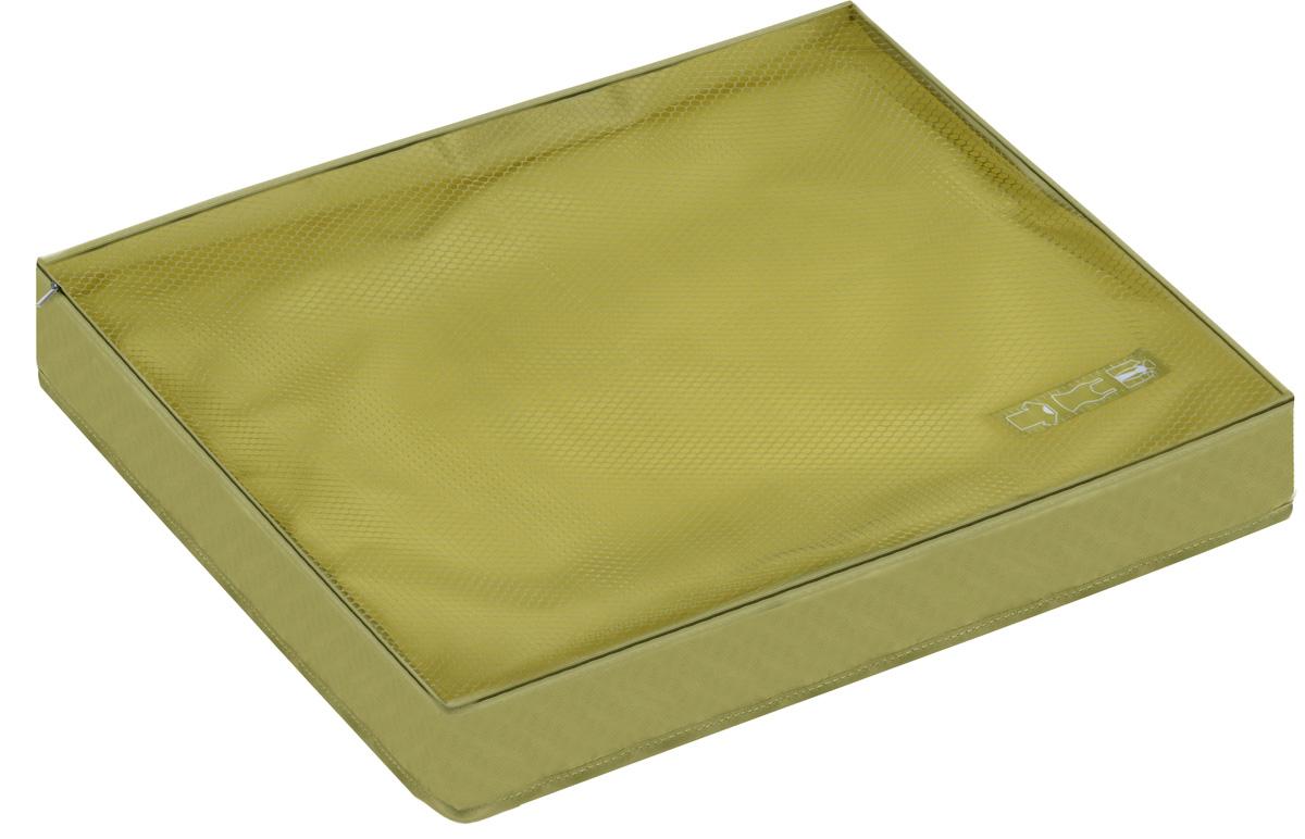Органайзер для одежды Miolla, цвет: оливковый, 45 х 35 х 8,5 смSO00386_оливковыйОрганайзер для одежды Miolla изготовлен из полиэстера с водоотталкивающей поверхностью. Изделие сверху имеет сетку, благодаря чему происходит естественная циркуляция воздуха. Предназначен для хранения легкой одежды - маек, футболок, рубашек и кофточек. Органайзер закрывается на молнию по всему периметру. Незаменимый аксессуар для путешествий, переездов и домашнего хранения.
