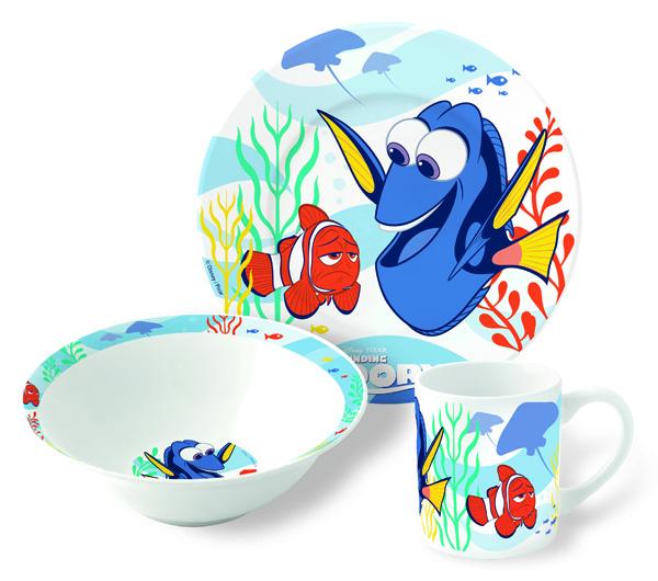 Disney Набор детской посуды В поисках Дори 3 предмета46365