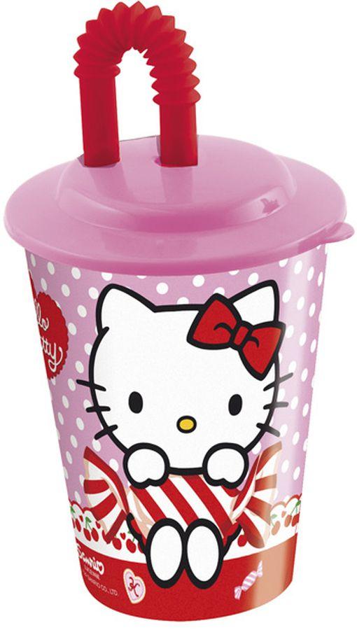 Hello Kitty Бокал с крышкой и трубочкой 450 мл53323
