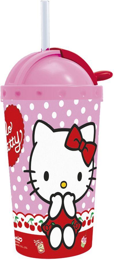 Hello Kitty Фляга с крышкой и трубочкой 450 мл53345