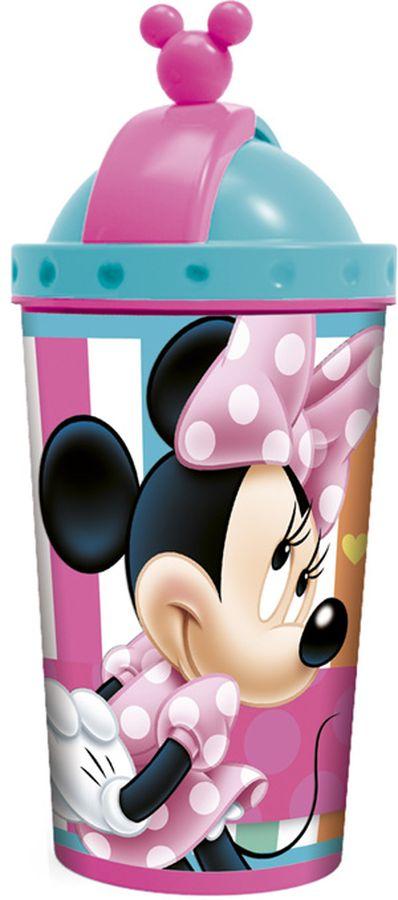 Disney Фляга Минни с крышкой и трубочкой 450 мл 56545