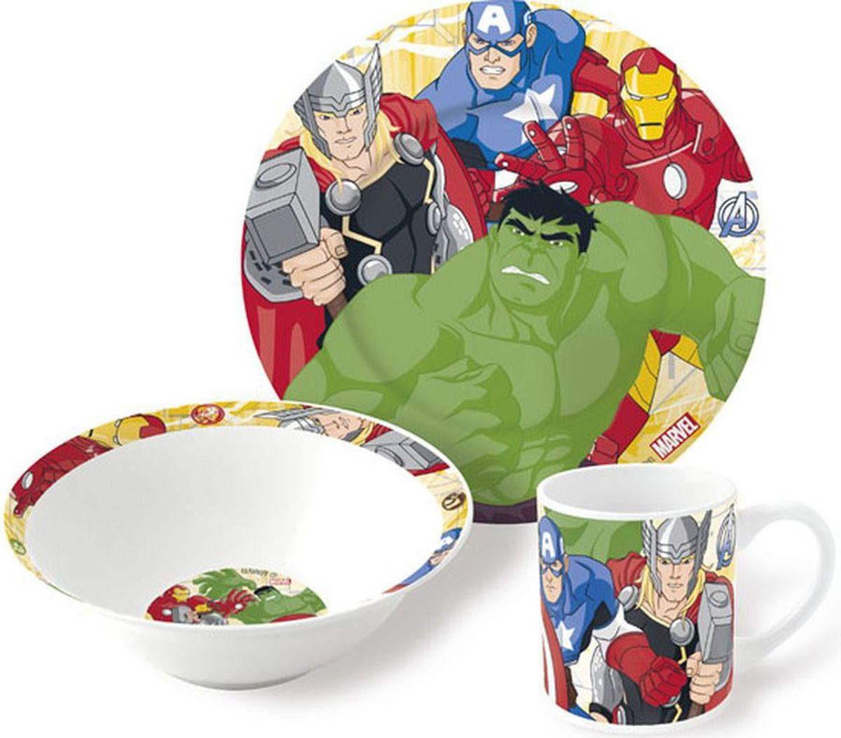 Marvel Набор детской посуды Мстители 3 предмета79665