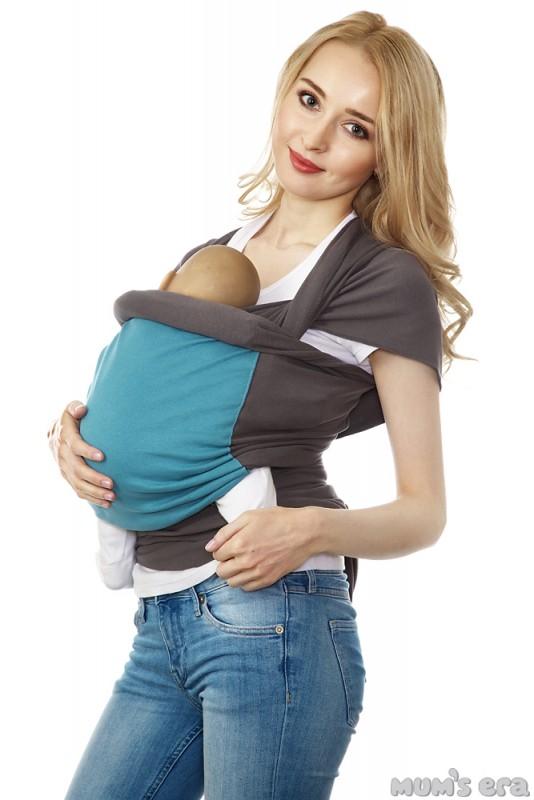 Mums Era Слинг-шарф трикотажный Фьюжн цвет серый голубой34850
