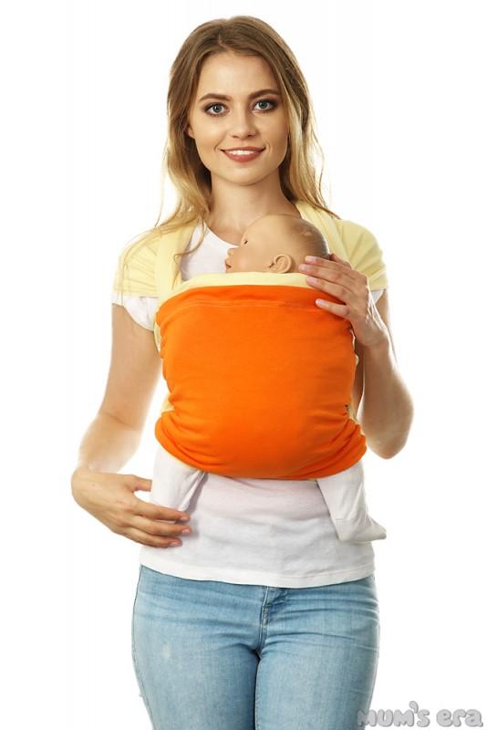 Mums Era Слинг-шарф трикотажный Фьюжн цвет ваниль оранжевый35284