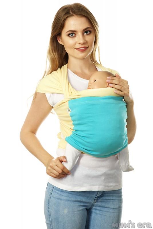 Mum's Era Слинг-шарф трикотажный Фьюжн цвет ваниль мята