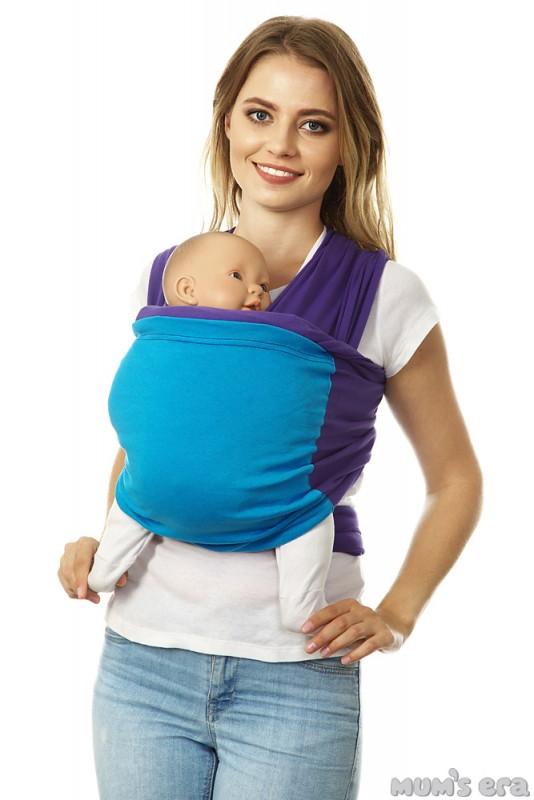 Mum's Era Слинг-шарф трикотажный Фьюжн цвет темно-синий голубой