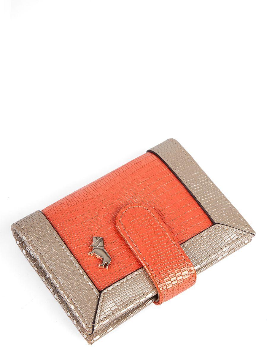 Визитница Labbra L041-5589 orange perlatoL041-5589Визитница торговый марки LABBRA из натуральной кожи. Модель вмещает 26 визитных карточек, имеется потайной кармашек. Закрывается на кнопку.