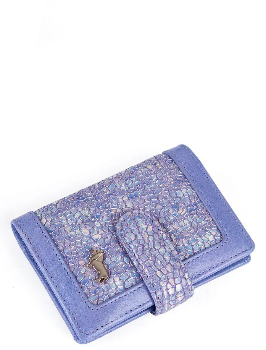 Визитница Labbra L043-5589 lavenderL043-5589Визитница торговый марки LABBRA из натуральной кожи. Модель вмещает 26 визитных карточек, имеется потайной кармашек. Закрывается на кнопку.