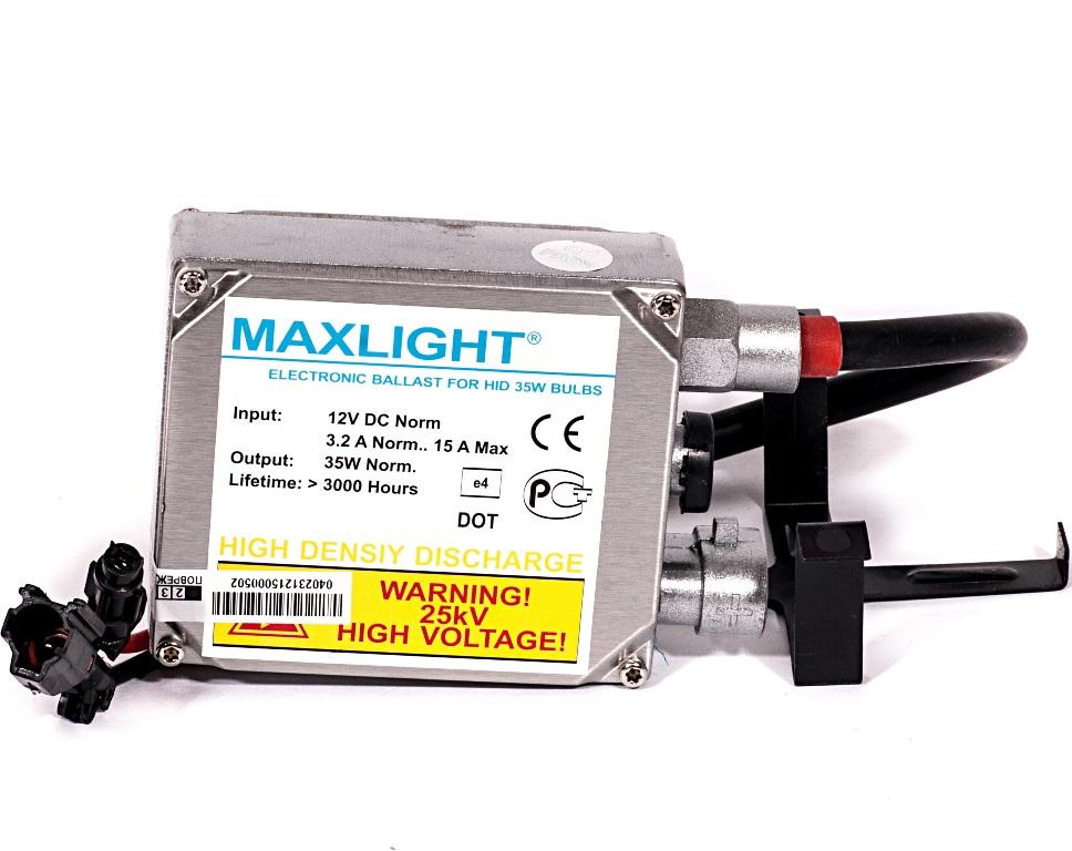 Блок высокого напряжения MaxLightBML 000 000-000Блок розжига MAXLIGHT используется для запуска ламп ксенонового света. Оптимальный выбор для эксплуатации в отечественных условиях. Отличается безотказностью в работе и долгим сроком службы (2000 часов).
