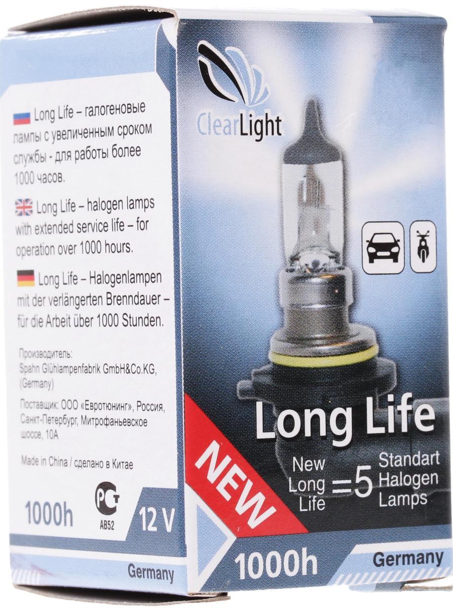 Лампа автомобильная галогенная Clearlight H4 LongLife