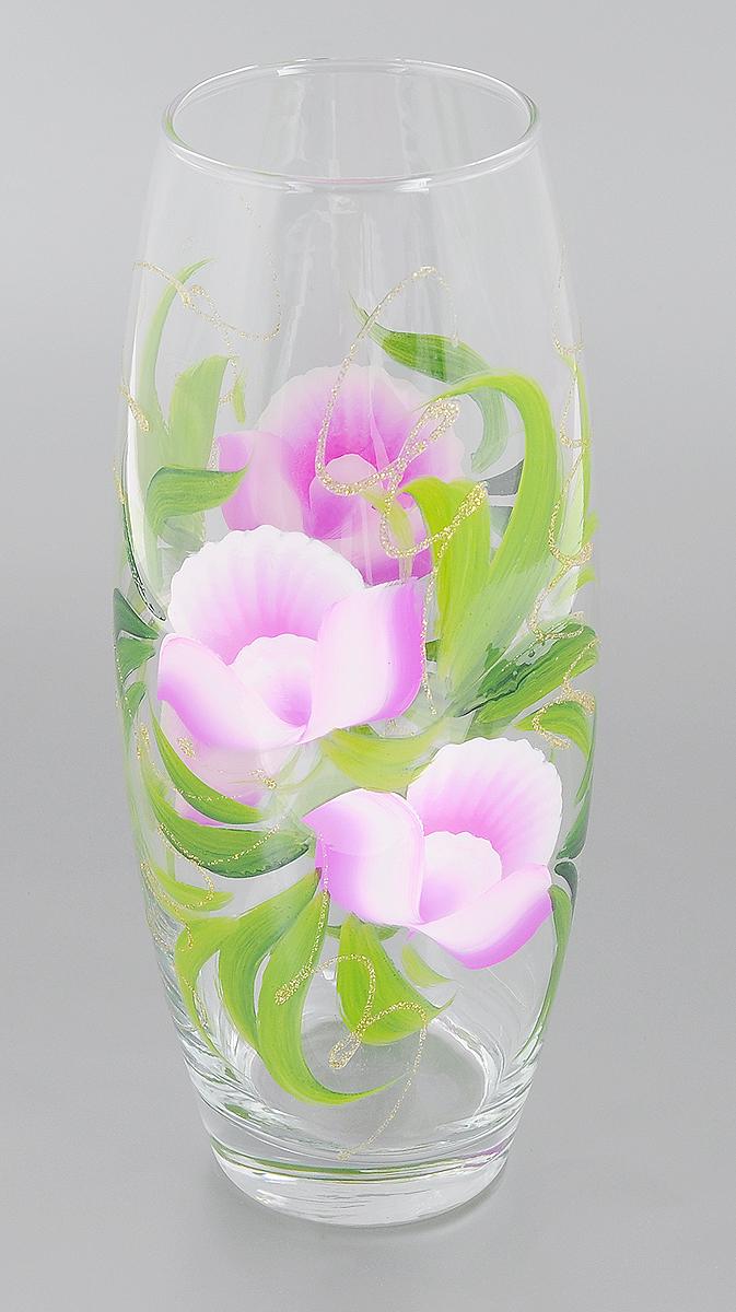 Ваза Мусатов Сиреневые цветы, высота 26,3 см. 966-25k966-25kВаза Мусатов Сиреневые цветы выполнена из высококачественного натрий-кальций-силикатного стекла. Изделие имеет изысканный внешний вид и декорировано художественной росписью. Такая ваза станет ярким украшением интерьера и прекрасным подарком к любому случаю. Диаметр вазы (по верхнему краю): 8 см. Высота вазы: 26,3 см.