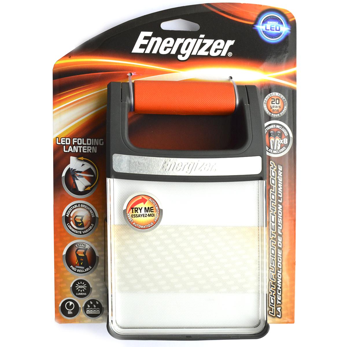 Фонарь ручной Energizer Fusion Lant FFL81E638505Компактное, универсальное и мощное освещение широкой направленности Технология рассеянного света для интенсивного ровного распределения освещения Уникальная оптика с текстурированной поверхностью Устойчивый к атмосферным воздействиям и легкий, идеально подходит для всех видов деятельности на открытом воздухе Работа от 4 батареек типоразмера АА и от 8 батареек типоразмера АА Подставка для устойчивого расположения на столе Легко подвешивается за ручку Прочный: рассчитан на 15 лет