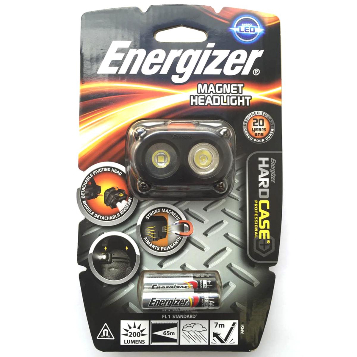 Фонарь налобный Energizer HardCase Magnet HL. 639826