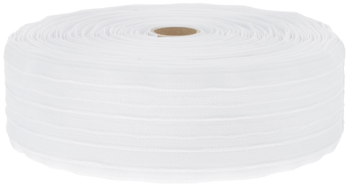 Тесьма для штор ТД Текстиль Бабочка, цвет: белый, 6 х 5000 см45789Тесьма для штор ТД Текстиль Бабочка выполнена из 100% полиэстера. Тесьма для штор - это лента, имеющая вид тканой или сетчатой полоски, в которой через определенные интервалы протянуты плотные нити или шнуры, которые и отвечают за ритм и шаг полученных складок. Используя тесьму, можно драпировать почти все виды штор: тюль, портьеры, гардины, ламбрекены и занавески. Длина тесьмы: 50 м. Ширина тесьмы: 6 см.