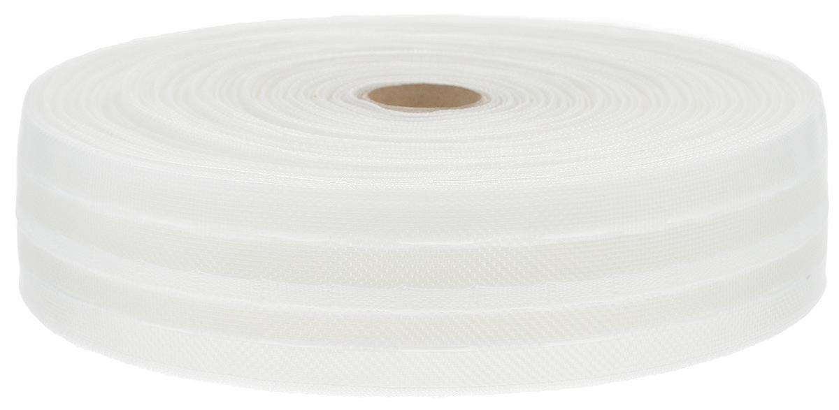 Тесьма для штор ТД Текстиль Классика, цвет: белый, 4 х 5000 см46041Тесьма для штор ТД Текстиль Классика выполнена из 100% полиэстера. Тесьма для штор - это лента, имеющая вид тканой или сетчатой полоски, в которой через определенные интервалы протянуты плотные нити или шнуры, которые и отвечают за ритм и шаг полученных складок. Используя тесьму, можно драпировать почти все виды штор: тюль, портьеры, гардины, ламбрекены и занавески. Длина тесьмы: 50 м. Ширина тесьмы: 4 см.