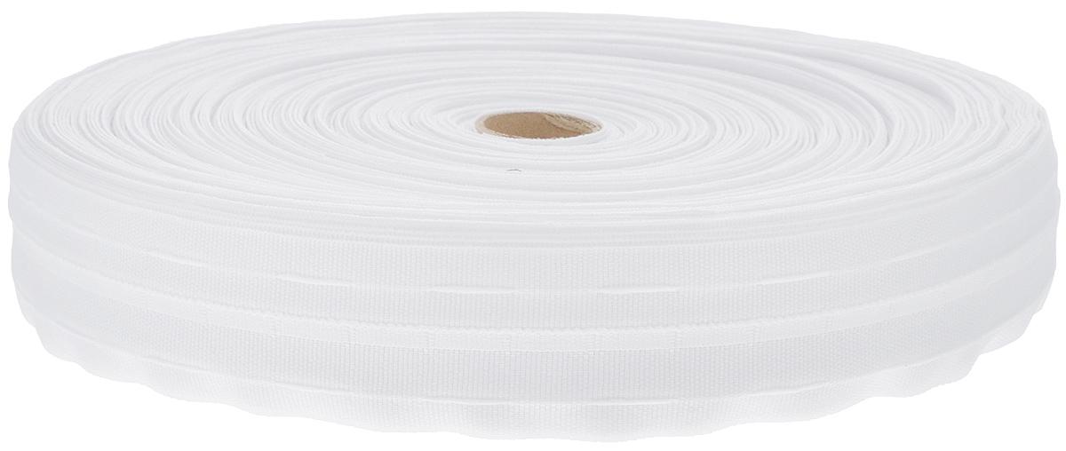 Тесьма для штор ТД Текстиль Классика, цвет: белый, 4 х 10000 см51519Тесьма для штор ТД Текстиль Классика выполнена из 100% полиэстера. Тесьма для штор - это лента, имеющая вид тканой или сетчатой полоски, в которой через определенные интервалы протянуты плотные нити или шнуры, которые и отвечают за ритм и шаг полученных складок. Используя тесьму, можно драпировать почти все виды штор: тюль, портьеры, гардины, ламбрекены и занавески. Длина тесьмы: 100 м. Ширина тесьмы: 4 см.