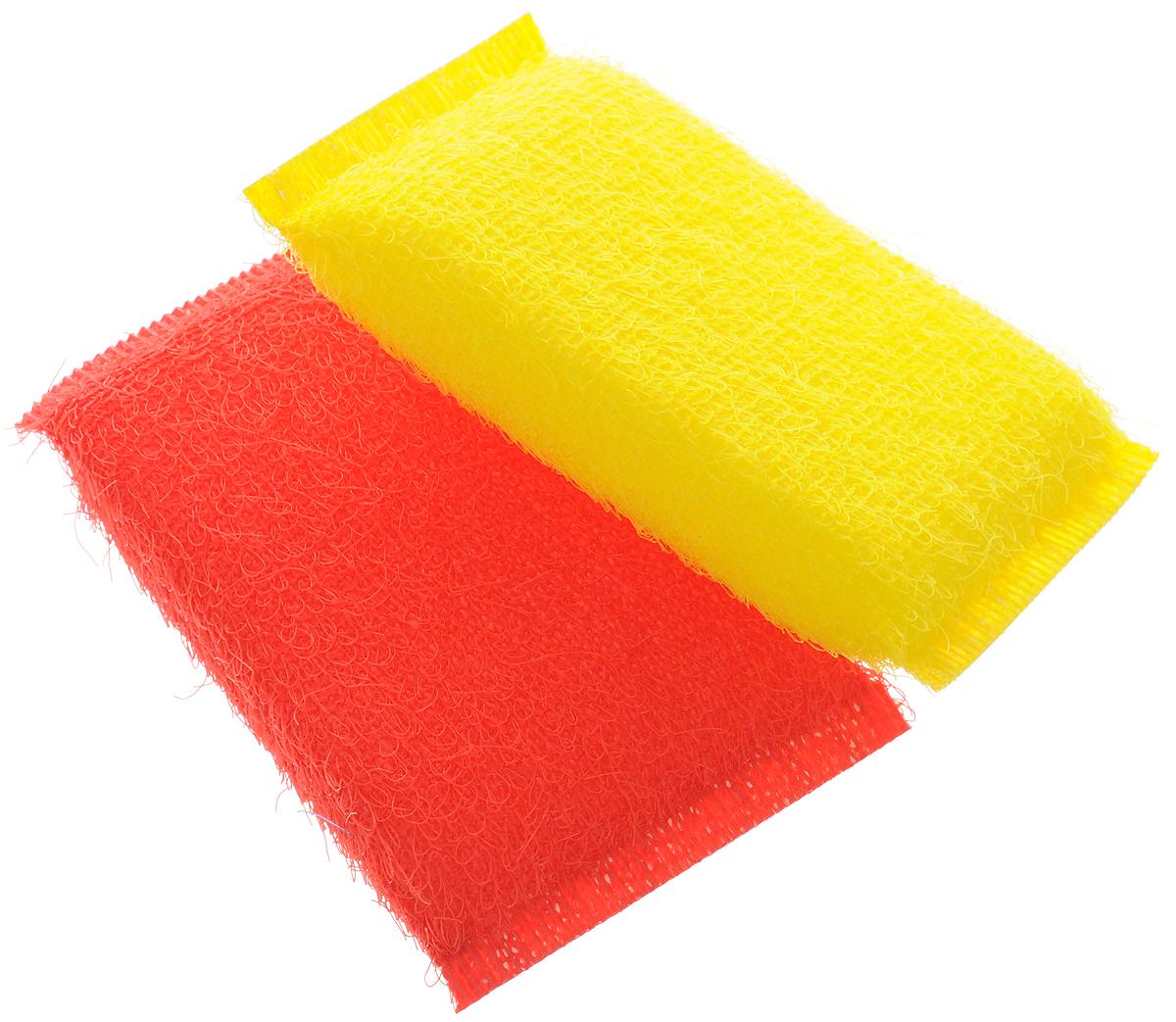 Губка для мытья посуды Хозяюшка Мила Кактус, цвет: желтый, красный, 2 шт1008_желтый, красныйНабор Хозяюшка Мила Кактус состоит из 2 губок, изготовленных из поролона. Они предназначены для интенсивной чистки и удаления сильных загрязнений с посуды (противни, решетки-гриль, кастрюли). Не рекомендуется использовать для посуды с антипригарным покрытием. Губки сохраняют чистоту и свежесть даже после многократного применения, а их эргономичная форма удобна для руки. Размер губки: 12 х 2 х 8 см.