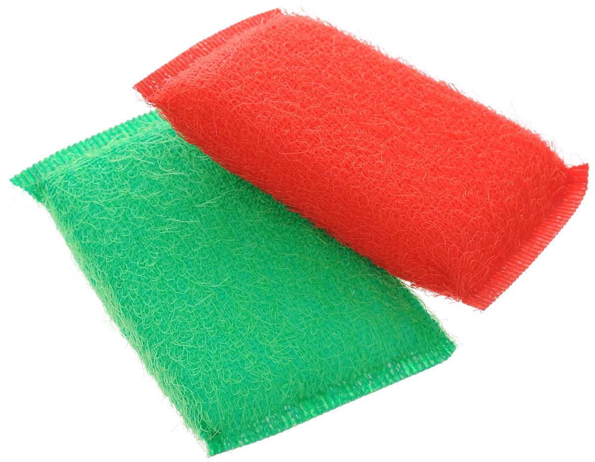 Губка для мытья посуды Хозяюшка Мила Кактус, цвет: красный, зеленый, 2 шт1008_красный, зеленыйНабор Хозяюшка Мила Кактус состоит из 2 губок. Губки предназначены для интенсивной чистки и удаления сильных загрязнений с посуды (противни, решетки-гриль, кастрюли). Губки сохраняют чистоту и свежесть даже после многократного применения, а их эргономичная форма удобна для руки. Не рекомендуется использовать для посуды с антипригарным покрытием. Размер губки: 12 х 2 х 8 см.