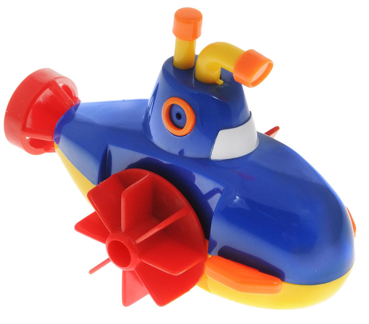 Navystar Игрушка для ванной Субмарина цвет голубой63906-1-BИгрушка для ванной Navystar Субмарина обрадует вашего малыша во время купания и сделает этот порой нелегкий процесс приятным и веселым. Игрушка выполнена в виде яркой подводной лодки с перископом и двумя боковыми гребными винтами. Если провернуть гребные винты назад, а затем отпустить, лодка поплывет вперед. Чем сильнее были провернуты винты, тем быстрее поплывет лодка. Игрушка для ванной Navystar Субмарина не только развеселит вашего малыша, но и поможет развить мелкую моторику.
