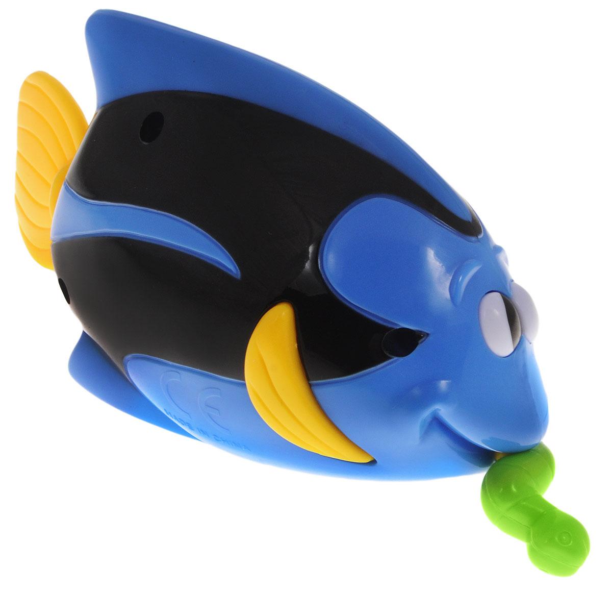 Navystar Игрушка для ванной Рыбка Голубой хирург65096-1Игрушка для ванной Navystar Рыбка Голубой хирург обрадует вашего малыша во время купания и сделает этот порой нелегкий процесс приятным и веселым. Игрушка выполнена в виде яркой рыбки с червячком во рту. Если потянуть за червячка, а затем отпустить, рыбка начнет двигать хвостовым плавником. Игрушка для ванной Navystar Рыбка Голубой хирург не только развеселит вашего малыша, но и поможет развить мелкую моторику.