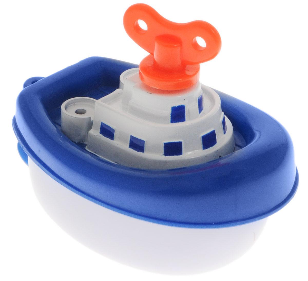 Navystar Игрушка для ванной Пароходик цвет синий63901-1-BИгрушка для ванной Navystar Пароходик обрадует вашего малыша во время купания и сделает этот порой нелегкий процесс приятным и веселым. Игрушка выполнена в виде яркого пароходика с ключиком. Если завести ключик, то гребной винт пароходика начнет вращаться. Игрушка для ванной Navystar Пароходик не только развеселит вашего малыша, но и поможет развить мелкую моторику.