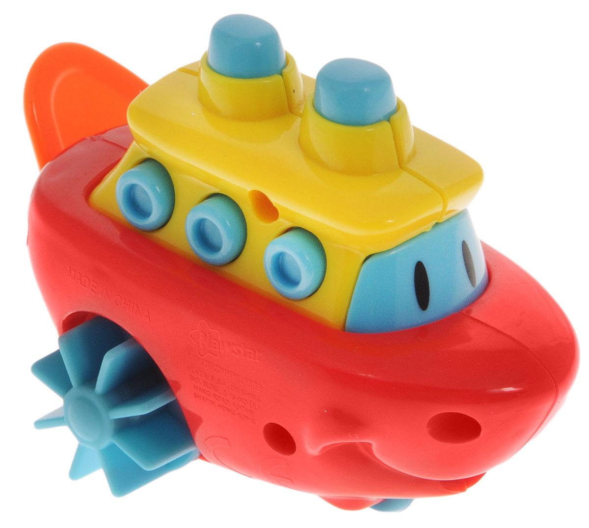 Navystar Игрушка для ванной Кораблик цвет красный желтый голубой66899-1-BИгрушка для ванной Navystar Кораблик обрадует вашего малыша во время купания и сделает этот порой нелегкий процесс приятным и веселым. Игрушка выполнена в виде яркого кораблика с лопастями-колесиками и передним колесом. Если потянуть за веревочку, лопасти кораблика начнут вращаться, и он поплывет, а если играть с ним на ровной поверхности, то поедет. Игрушка для ванной Navystar Кораблик не только развеселит вашего малыша, но и поможет развить мелкую моторику.