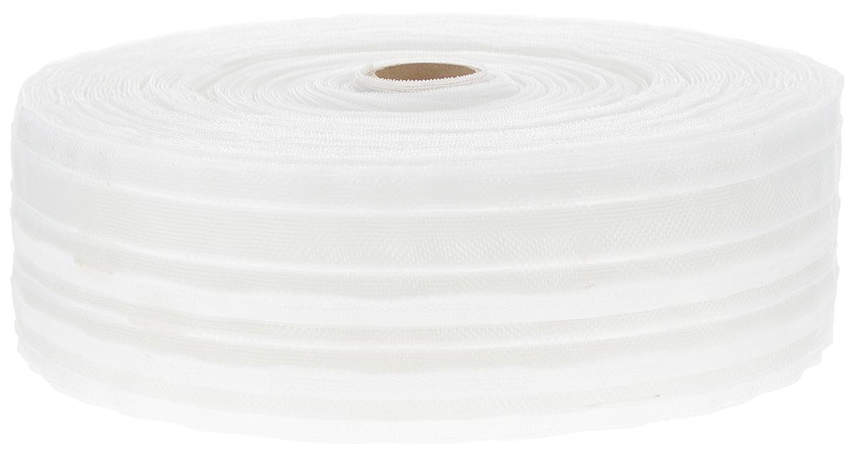 Тесьма для штор ТД Текстиль Классика, цвет: прозрачный, 6 см х 50 м. 8218182181Тесьма для штор ТД Текстиль Классика выполнена из 100% полиэстера. Тесьма для штор - это лента, имеющая вид тканой или сетчатой полоски, в которой через определенные интервалы протянуты плотные нити или шнуры, которые и отвечают за ритм и шаг полученных складок. Используя тесьму, можно драпировать почти все виды штор: тюль, портьеры, гардины, ламбрекены и занавески. Длина тесьмы: 50 м. Ширина тесьмы: 6 см.