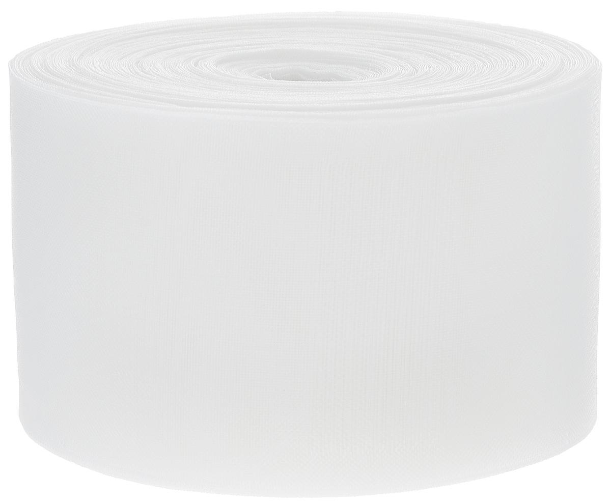 Тесьма шторная ТД Текстиль Трубная, цвет: прозрачный, 10 х 500 см86922Тесьма для штор ТД Текстиль Трубная выполнена из 100% полиэстера. Тесьма для штор - это лента, имеющая вид тканой или сетчатой полоски, в которой через определенные интервалы протянуты плотные нити или шнуры, которые и отвечают за ритм и шаг полученных складок. Используя тесьму, можно драпировать почти все виды штор: тюль, портьеры, гардины, ламбрекены и занавески. Длина тесьмы: 50 м. Ширина тесьмы: 10 см.