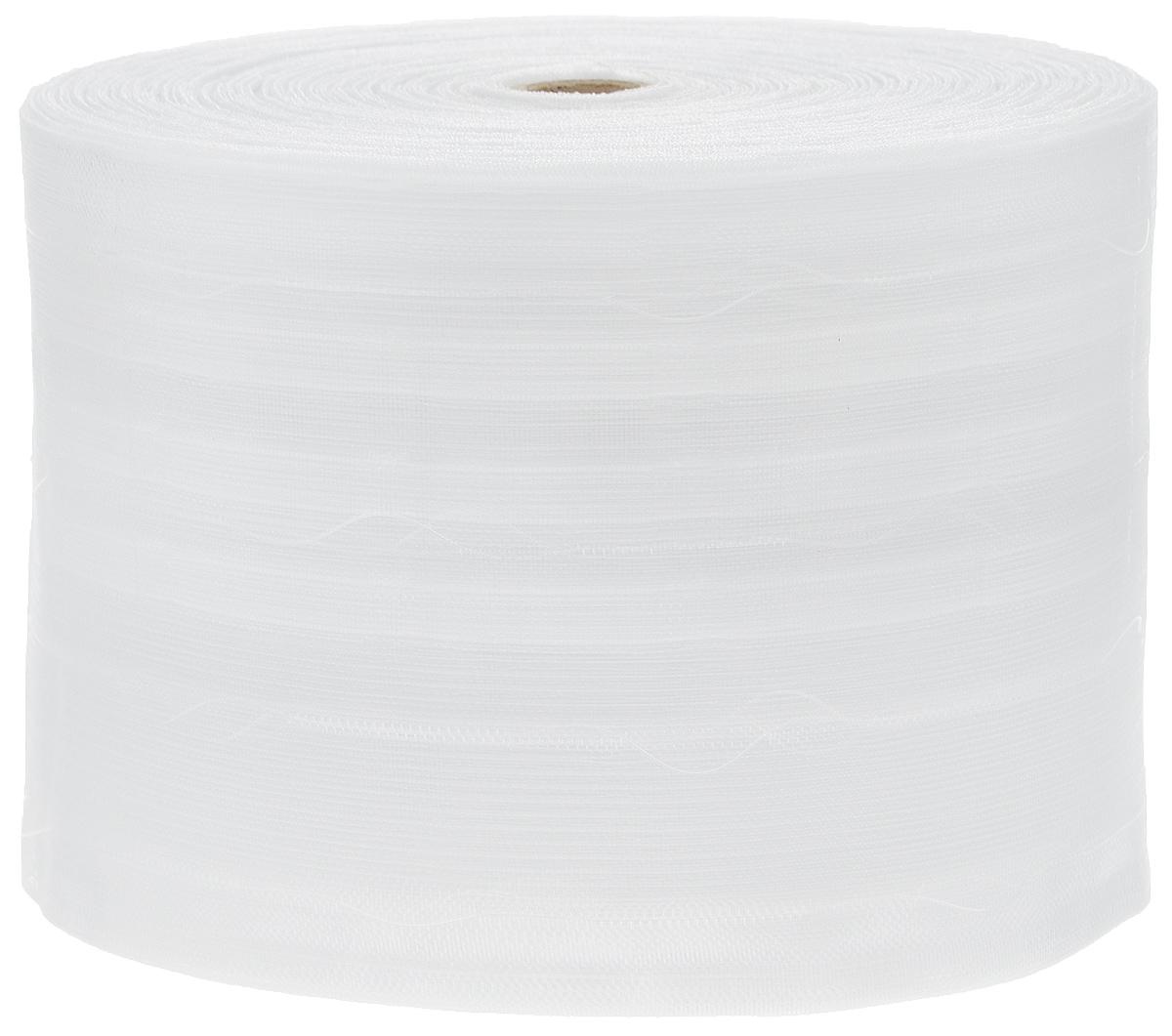 Тесьма для штор ТД Текстиль Бабочка, цвет: прозрачный, 12,5 см х 50 м86930Тесьма для штор ТД Текстиль Бабочка выполнена из 100% полиэстера. Тесьма для штор - это лента, имеющая вид тканой или сетчатой полоски, в которой через определенные интервалы протянуты плотные нити или шнуры, которые и отвечают за ритм и шаг полученных складок. Используя тесьму, можно драпировать почти все виды штор: тюль, портьеры, гардины, ламбрекены и занавески. Длина тесьмы: 50 м. Ширина тесьмы: 12,5 см.