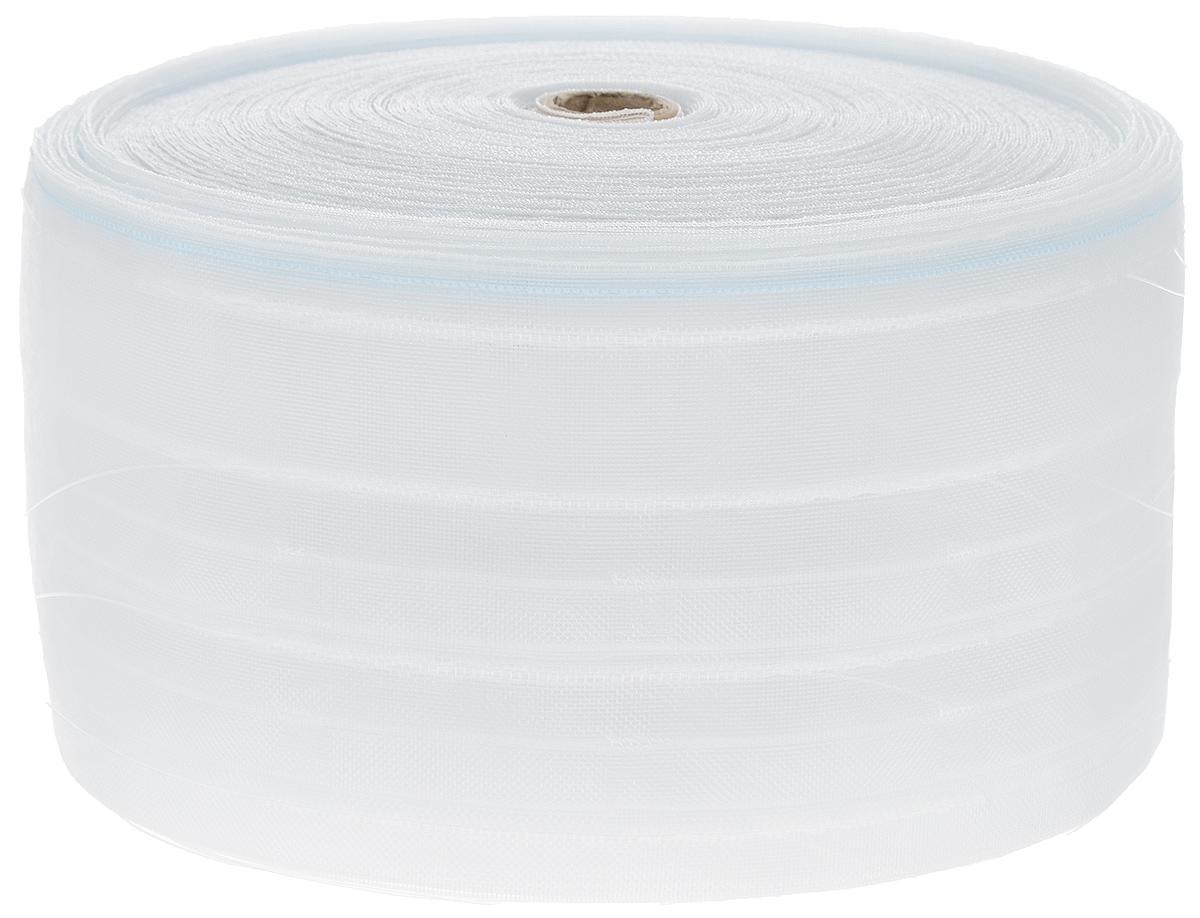 Тесьма для штор ТД Текстиль Стакан, цвет: прозрачный, 10 см х 50 м86924Тесьма для штор ТД Текстиль Стакан выполнена из 100% полиэстера. Тесьма для штор - это лента, имеющая вид тканой или сетчатой полоски, в которой через определенные интервалы протянуты плотные нити или шнуры, которые и отвечают за ритм и шаг полученных складок. Используя тесьму, можно драпировать почти все виды штор: тюль, портьеры, гардины, ламбрекены и занавески. Длина тесьмы: 50 м. Ширина тесьмы: 10 см.