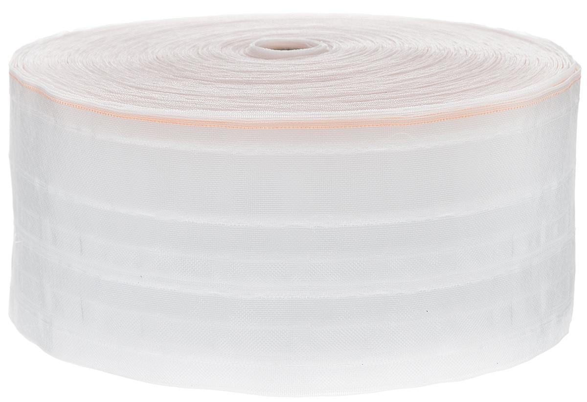 Тесьма для штор ТД Текстиль Бабочка, цвет: прозрачный, 10 х 5000 см86925Тесьма для штор ТД Текстиль Бабочка выполнена из 100% полиэстера. Тесьма для штор - это лента, имеющая вид тканой или сетчатой полоски, в которой через определенные интервалы протянуты плотные нити или шнуры, которые и отвечают за ритм и шаг полученных складок. Используя тесьму, можно драпировать почти все виды штор: тюль, портьеры, гардины, ламбрекены и занавески. Длина тесьмы: 50 м. Ширина тесьмы: 10 см.