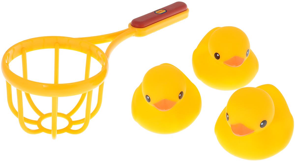Tolo Игрушка для ванной Сачок и утки89223Игрушка для ванной Tolo Сачок и утки идеально подходит для увлекательной игры для самых маленьких детишек! Элементы набора отличаются высоким качеством изготовления и повышенной прочностью. Набор включает в себя 3 уточки и сачок. Утята могут плавать на поверхности воды. Отправив утят в плавание, малыш сможет поймать их с помощью сачка. Увлекательный комплект для игры в ванной добавит веселья малышу во время купания. Ловля уточек развивает мелкую моторику рук, логическое мышление и поднимает настроение!