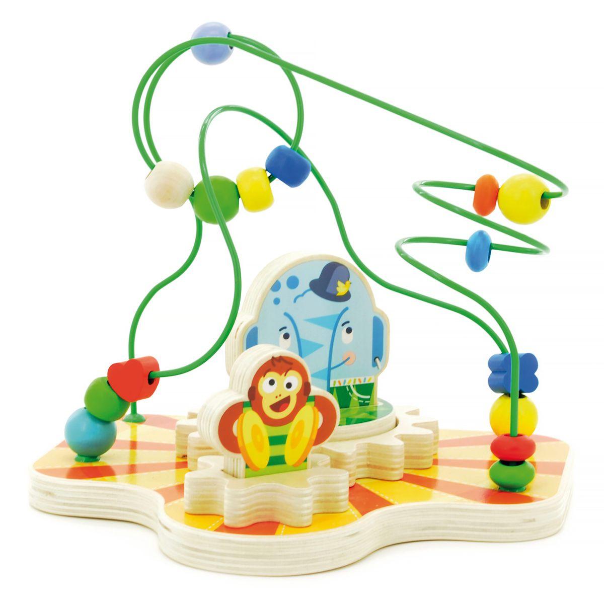 Мир деревянных игрушек Сортер-лабиринт ЦиркД381Лабиринт привлечет внимание ребенка яркими цветами и необычной формой. Игрушка представляет собой лабиринт с дорожками, на которые нанизаны разноцветные бусинки разной формы. Игра способствует развитию логики, воображения, пространственного мышления, развивает координацию, внимание и учит различать цвета и формы.