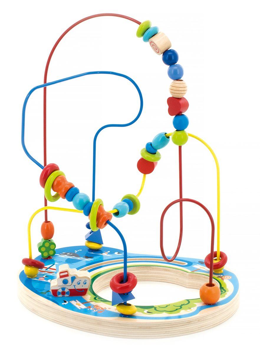 Мир деревянных игрушек Лабиринт Морское приключениеД382Лабиринт привлечет внимание ребенка яркими цветами и необычной формой. Игрушка представляет собой лабиринт с дорожками разного цвета, на которые нанизаны разноцветные бусинки разной формы. Игра способствует развитию логики, воображения, пространственного мышления, развивает координацию, внимание и учит различать цвета и формы.