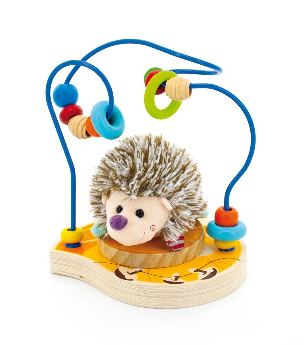 Мир деревянных игрушек Лабиринт ЕжикД385Лабиринт привлечет внимание ребенка яркими цветами и необычной формой. Игрушка представляет собой лабиринт , на которые нанизаны разноцветные бусинки разной формы. Игра способствует развитию логики, воображения, пространственного мышления, развивает координацию, внимание и учит различать цвета и формы.
