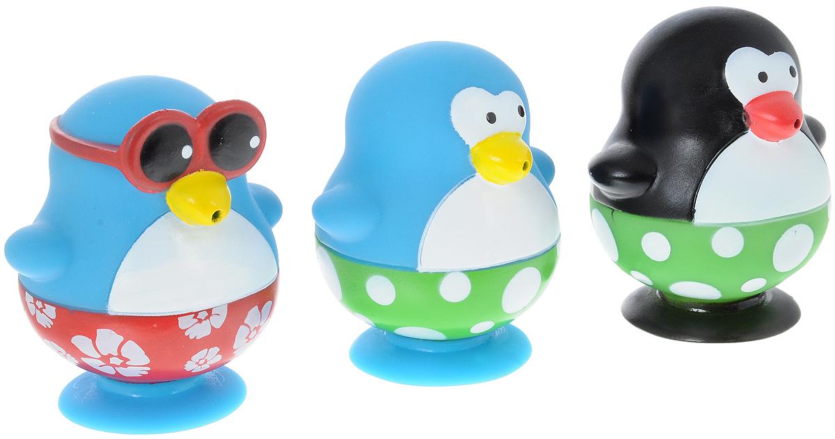 Toy Target Набор игрушек для ванной Пингвины 3 шт23202_пингвиныНабор игрушек для ванной Toy Target Пингвины непременно понравится вашему ребенку и превратит купание в веселую игру! Набор включает в себя три игрушки пингвинов. Яркие игрушки выполнены из безопасного материала и приятны на ощупь. Игрушки оснащены присосками, с помощью которых их можно крепить на ванну или любую другую поверхность. Пингвины могут брызгать водой. Игрушки для ванной способствуют развитию мелкой моторики, воображения и концентрации внимания.