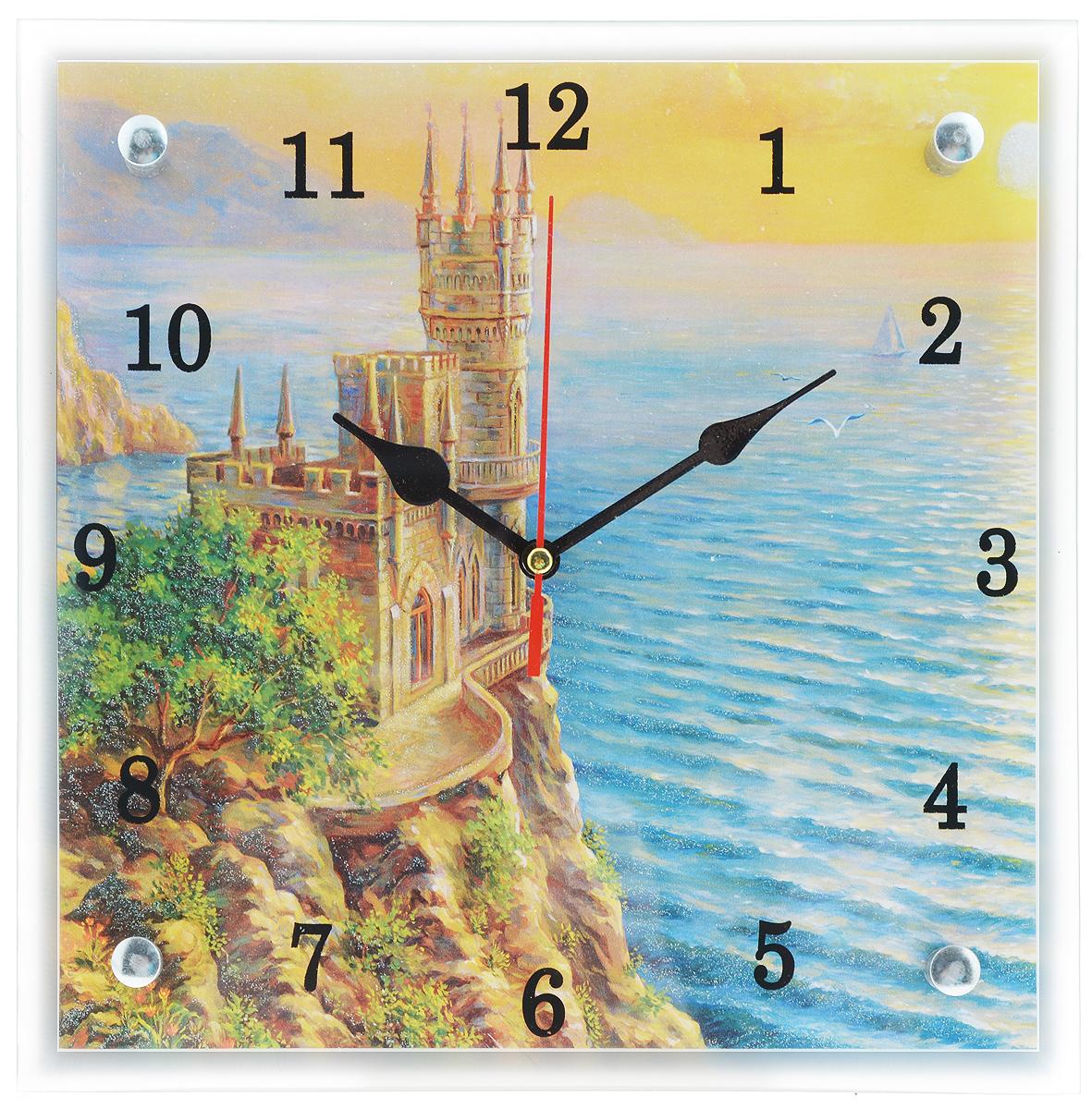 Часы настенные Proffi Home Ласточкино гнездо, 25 х 25 смВ93Настенные кварцевые часы Proffi Home Ласточкино гнездо, изготовленные из ДВП и стекла, прекрасно подойдут под интерьер вашего дома. Квадратные часы имеют три стрелки: часовую, минутную и секундную. Размер часов: 25 х 25 см. Часы работают от 1 батарейки типа АА напряжением 1,5 В. Батарейка в комплект не входит.