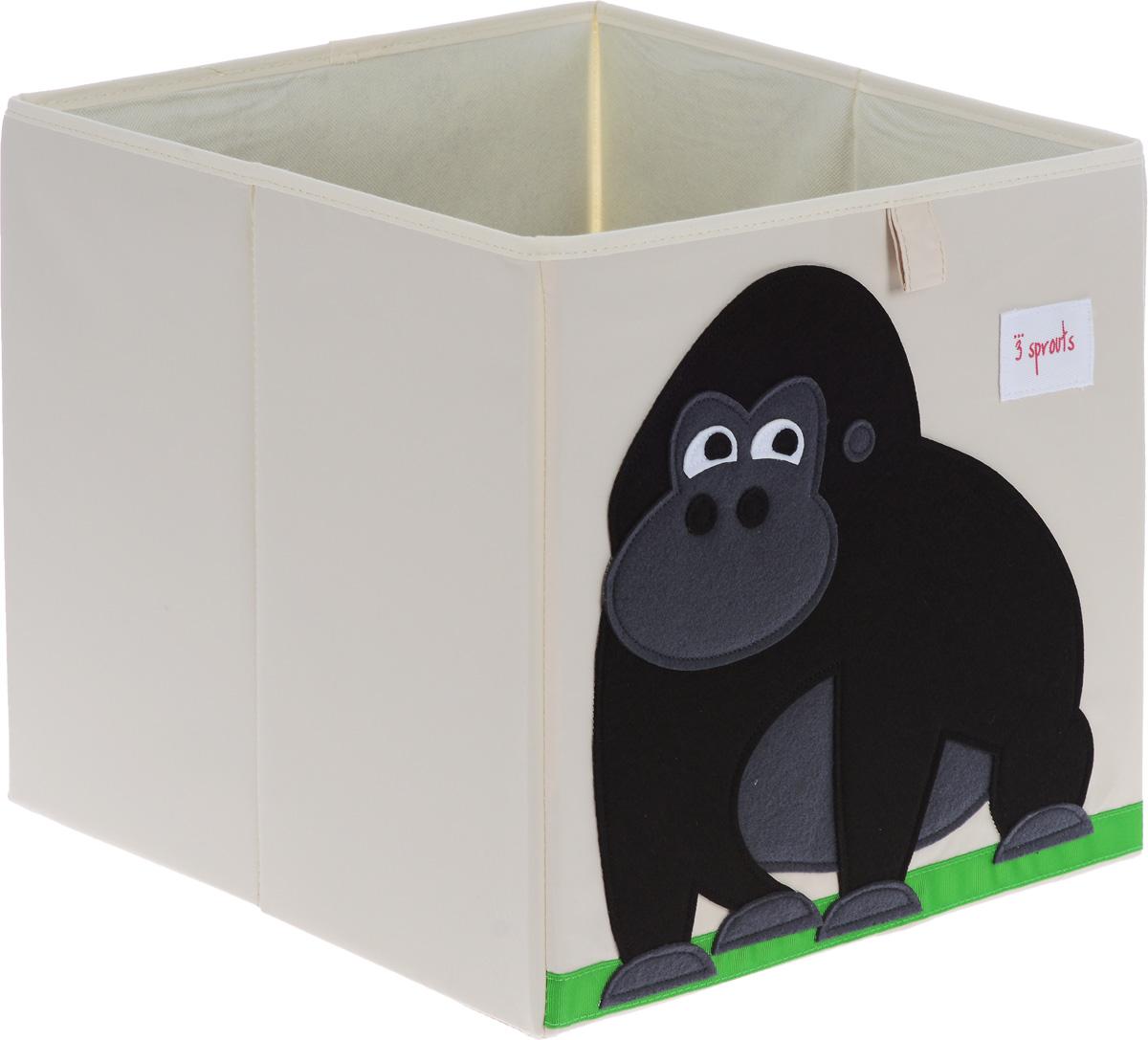 3 Sprouts Коробка для хранения Горилла27250Коробка для хранения 3 Sprouts Горилла - это отличный вариант организации пространства любой комнаты. Стороны коробки усилены с помощью картона, поэтому она всегда стоит ровно. Помещается практически во все стеллажи с квадратными отсеками и добавляет озорства любой комнате. Стоит ли коробка отдельно или на полке стеллажа, она обеспечит прекрасную организацию в вашем доме. Уход: снаружи - только выведение пятен.