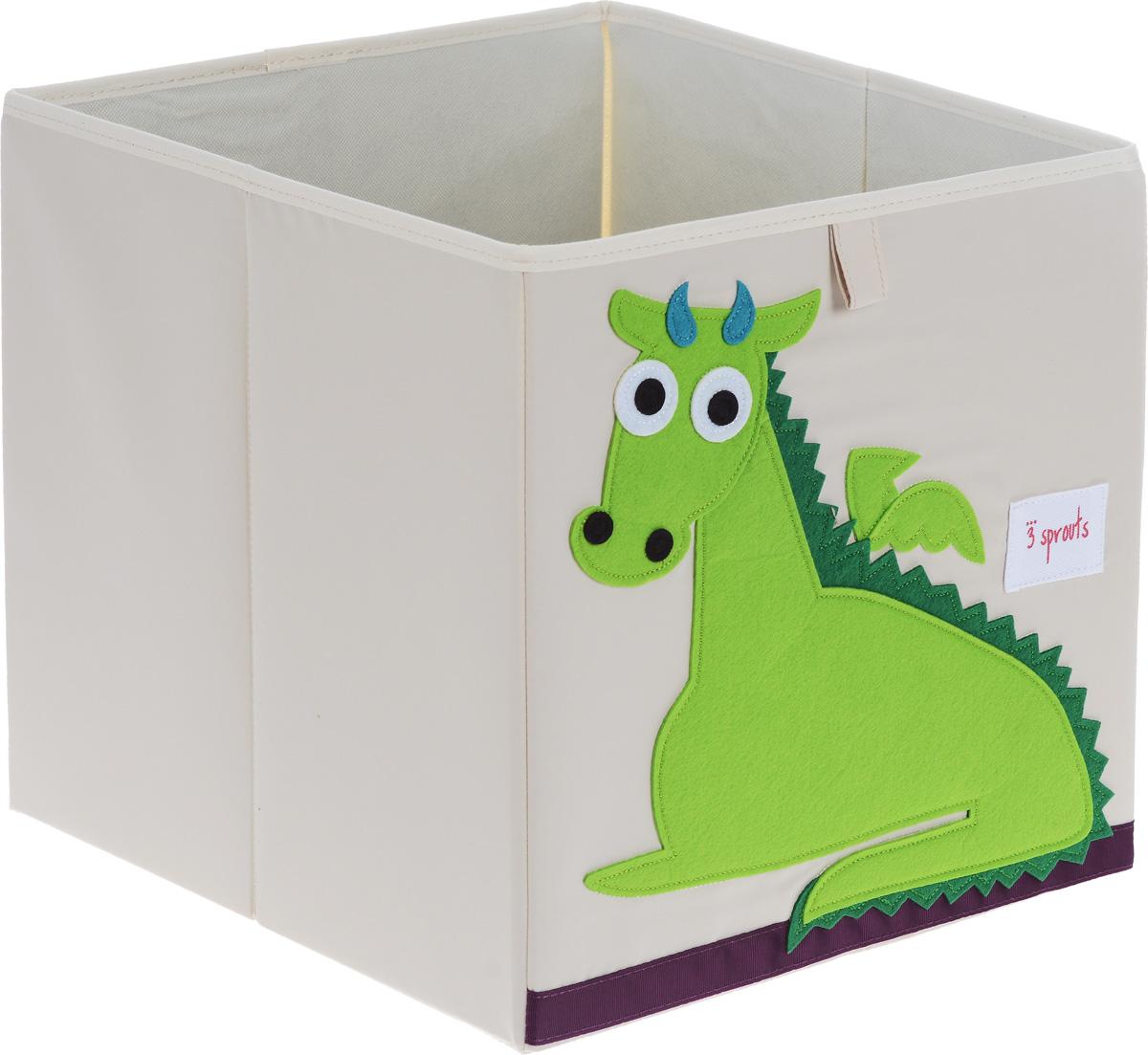 3 Sprouts Коробка для хранения Дракон67381Коробка для хранения 3 Sprouts Дракон - это отличный вариант организации пространства любой комнаты. Стороны коробки усилены с помощью картона, поэтому она всегда стоит ровно. Помещается практически во все стеллажи с квадратными отсеками и добавляет озорства любой комнате. Стоит ли коробка отдельно или на полке стеллажа, она обеспечит прекрасную организацию в вашем доме. Уход: снаружи - только выведение пятен.
