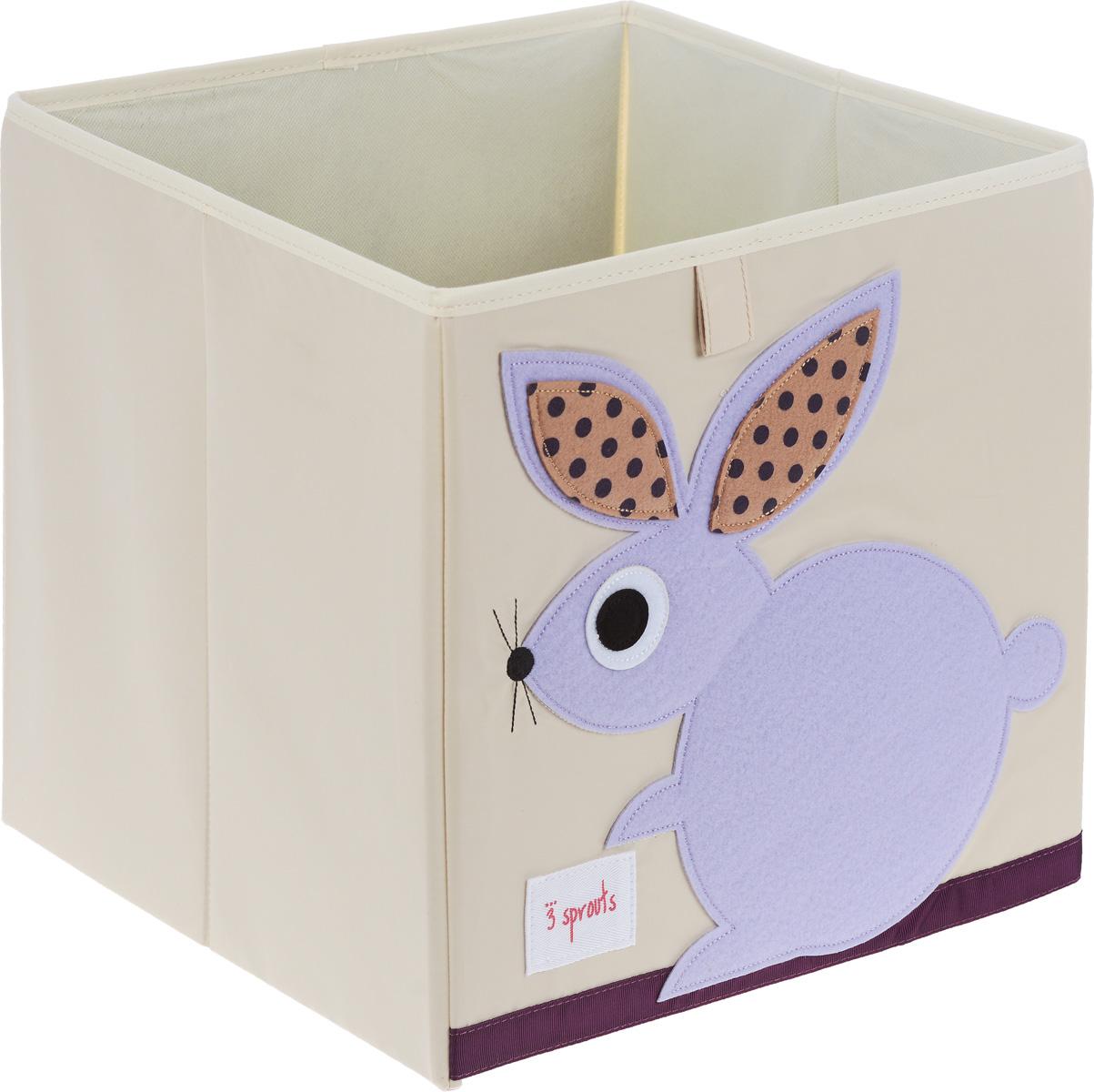 3 Sprouts Коробка для хранения Кролик27251Коробка для хранения 3 Sprouts Кролик - это отличный вариант организации пространства любой комнаты. Стороны коробки усилены с помощью картона, поэтому она всегда стоит ровно. Помещается практически во все стеллажи с квадратными отсеками и добавляет озорства любой комнате. Стоит ли коробка отдельно или на полке стеллажа, она обеспечит прекрасную организацию в вашем доме. Уход: снаружи - только выведение пятен.